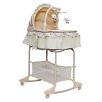 Baby cradle, balcony bed Nap with music function, vibration and night light