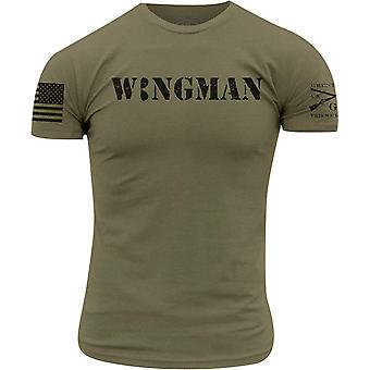 Grunt Style Wingman T-Shirt - Military Green