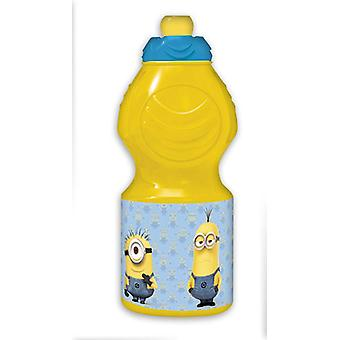 Despicable Me Drinking Bottle Minions Stuart, Kevin & Jerry amarillo-azul, impreso, hecho de polietileno.