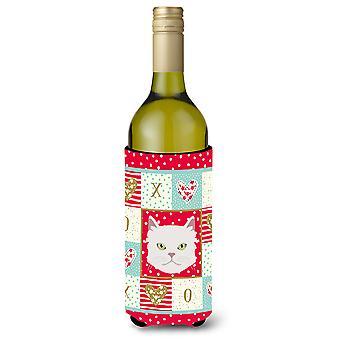 Aziatische semi langharige kat wijn fles drank isolator Hugger