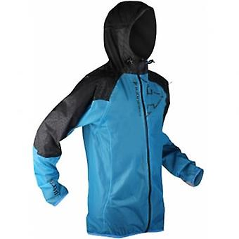 Raidlight Ultra Mp+ Mens Waterproof Running Jacket With Hood Blue/black