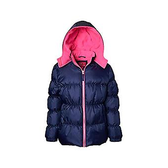 Pink Platinum Girls' Toddler Ripstop Puffer Jacket, Navy, 2T