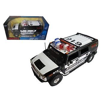 Hummer H2 High Profile Police K-9 Unit 1/24 Diecast Car Model par Jada