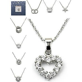 Kubický zirkónia prívesok náhrdelník