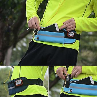 6 بوصة حقيبة الخصر الهاتف، أنيق للماء في الهواء الطلق الحقيبة الواقية، الأزرق