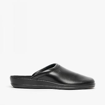 Rohde 1550 Mens Leather Mules Black