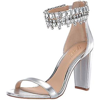 Jewel Badgley Mischka Women's DANCER Sandal, silver/metallic, 10 M US