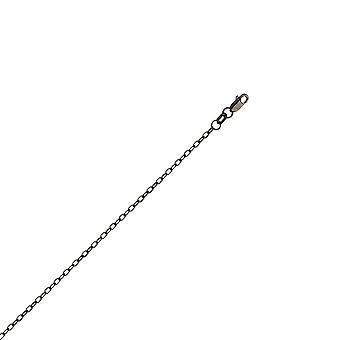 925 Sterling Zilver Zwart 1.85mm Getextureerde Forzantina Ketting Ketting Kreeft slot sieraden geschenken voor vrouwen - Lengte: 16 tot