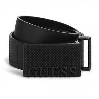 Guess Logo Plate Belt Black M92Z35L0M30