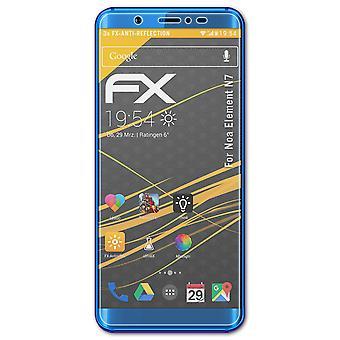 atFoliX 3x Proteggi Schermo compatibile con Noa Element N7 Pellicola Protettiva chiaro&flessibile