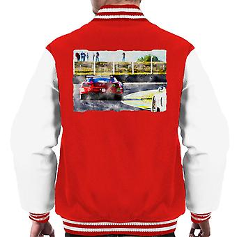 Motorsport Images Ferrari 488 GTE Beretta Cheever Men's Varsity Jacket