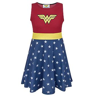 Wonder Woman Girl's Costume Dress Kids Superhero Cosplay Party Fancy Dress