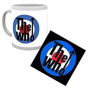 The Who Mug and Coaster Classic Mod Target Band Logo new Official Gift Set