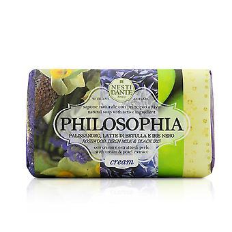Filosófia creme natural de sabão rosewood, leite de bétula e íris preta com creme e extrato de pérola 208649 250g/8.8oz
