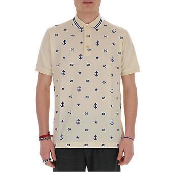Gucci 604157xjb0t9247 Men's Beige Cotton Polo Shirt