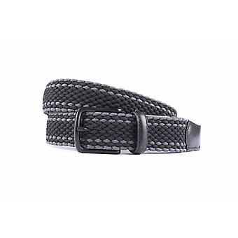 Bella cintura elastica nera/grigia
