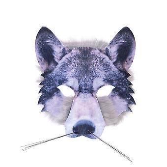 بريستول الجدة Unisex البالغين واقعية الذئب الوجه فو قناع الفراء
