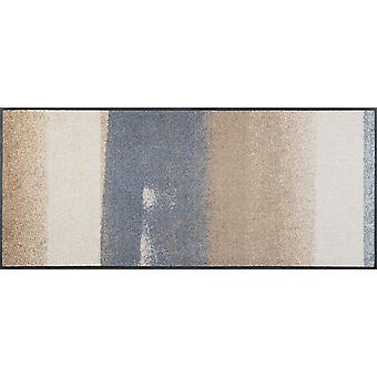 lavagem+capacho seco medley bege 60 x 140 cm tapete lavável