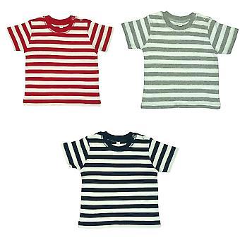 Babybugz Baby Unisex stripy krátky rukáv T-shirt
