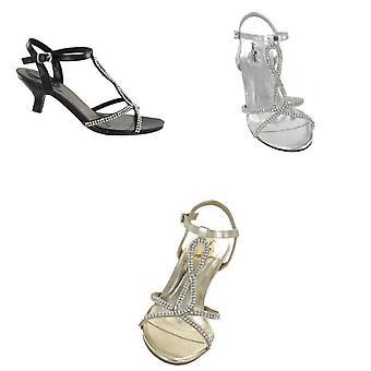Anne Michelle naisten/hyvät Diamante Kitten Heel kengät