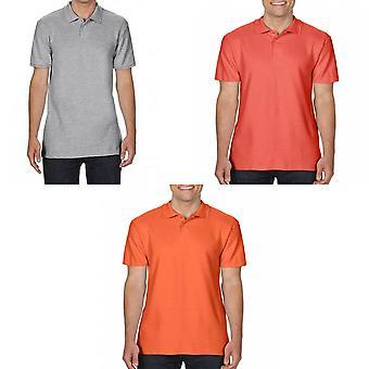 Gildan Mens SoftStyle duplo Pique Polo camisa