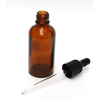 5 X 50ml Glass Bottles With Pipette - For Dmso Amber Glass Bottles With Dosing Pipette - Apothecary Bottles With Dropper Pipette