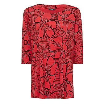 TIGI Red Flower Print Tunic
