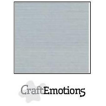 CraftEmotions linen cardboard 10 Sh gray LHC-71 A4 250gr