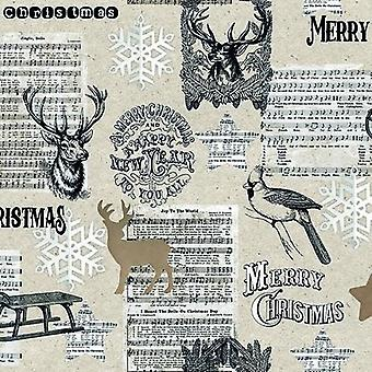 CraftEmotions Servietten 5pcs - Joy To The World 33x33cm Ambiente 33310835