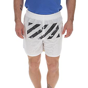 Off-white Omci005s201010040188 Men's White Nylon Shorts