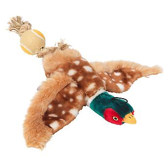 House Of Paws Pheasant With Tennis Ball Tail Dog Toy