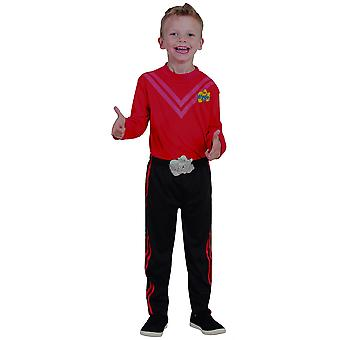 Simon Red Wiggle The Wiggles Deluxe Book Week Dress Up Boys Costume Size 3-5