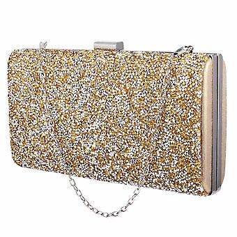 Glittery Envelope Bag - Gold