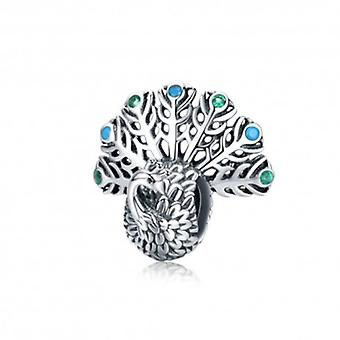 Sterling Silver Charm Peacock - 6282
