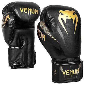 Venum Impact Boxing Gloves Gold/Black