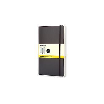 Moleskine notebook large squared - black - soft cover