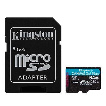 Micro SD Speicherkarte mit Adapter Kingston SDCG3 Schwarz/64 GB
