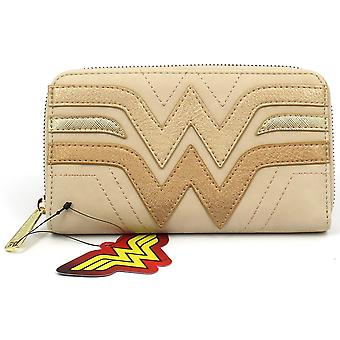 Loungefly Wonder Woman Cream Quilted Faux Leather Purse