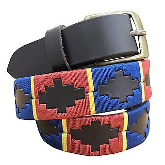 carlos diaz kids unisex  brown leather  polo belt cdcpb45