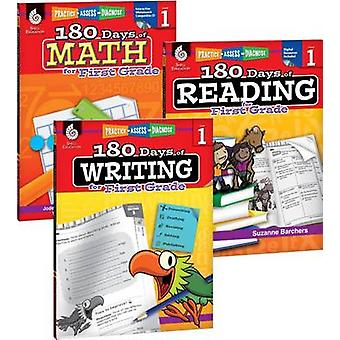 180 Days of Reading - Writing - and Math for First Grade 3-Book Set b