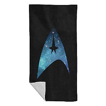 Star Trek Galaxy Silhouette Star Fleet Logo Beach Towel