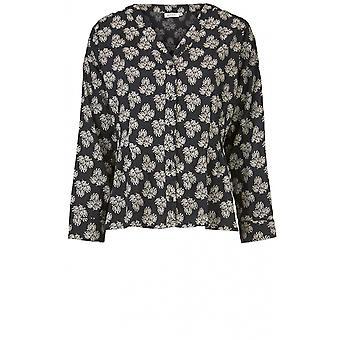 Masai Clothing Imgart Black & White Print Blouse