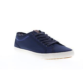 Ben Sherman Chandler LO  Mens Blue Canvas Plaid Lifestyle Sneakers Shoes