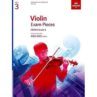 Violin Exam Pieces 2020-2023 - ABRSM Grade 3 - Part - Selected from th