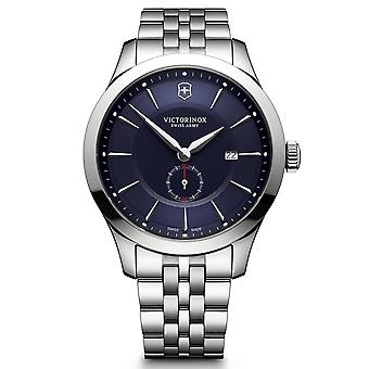 Victorinox Swiss Army Alliance Blue Dial Silver Stainless Steel Bracelet Men's Watch 241763 RRP £460