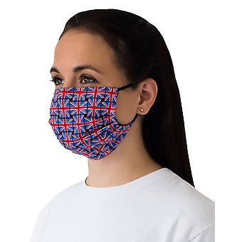 Mio BOB1 Union Jack Blue and Red Cotton Face Mask with Removable Nose Wire