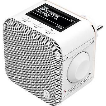 Hama DR40BT-PlugIn Flush-mount rádió DAB+ AUX, Bluetooth Fehér