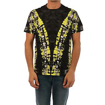 Valentino Uv3mg07j6hna5b Männer's schwarze Baumwolle T-shirt