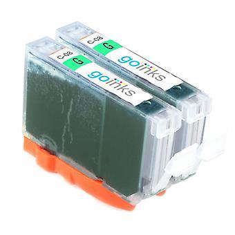 2 groene inktcartridges ter vervanging van Canon CLI-8G Compatible/non-OEM van Go Inks