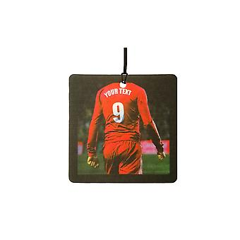 Custom Football / Soccer Player (All Red) Car Air Freshener